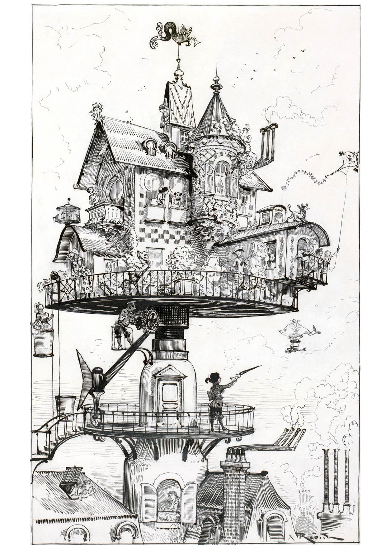 Dibujo para colorear Casa del futuro - 1883 - Img 14777