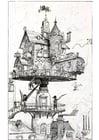Dibujo para colorear Casa del futuro - 1883