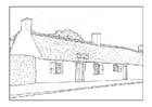 Dibujo para colorear Casa del siglo 18