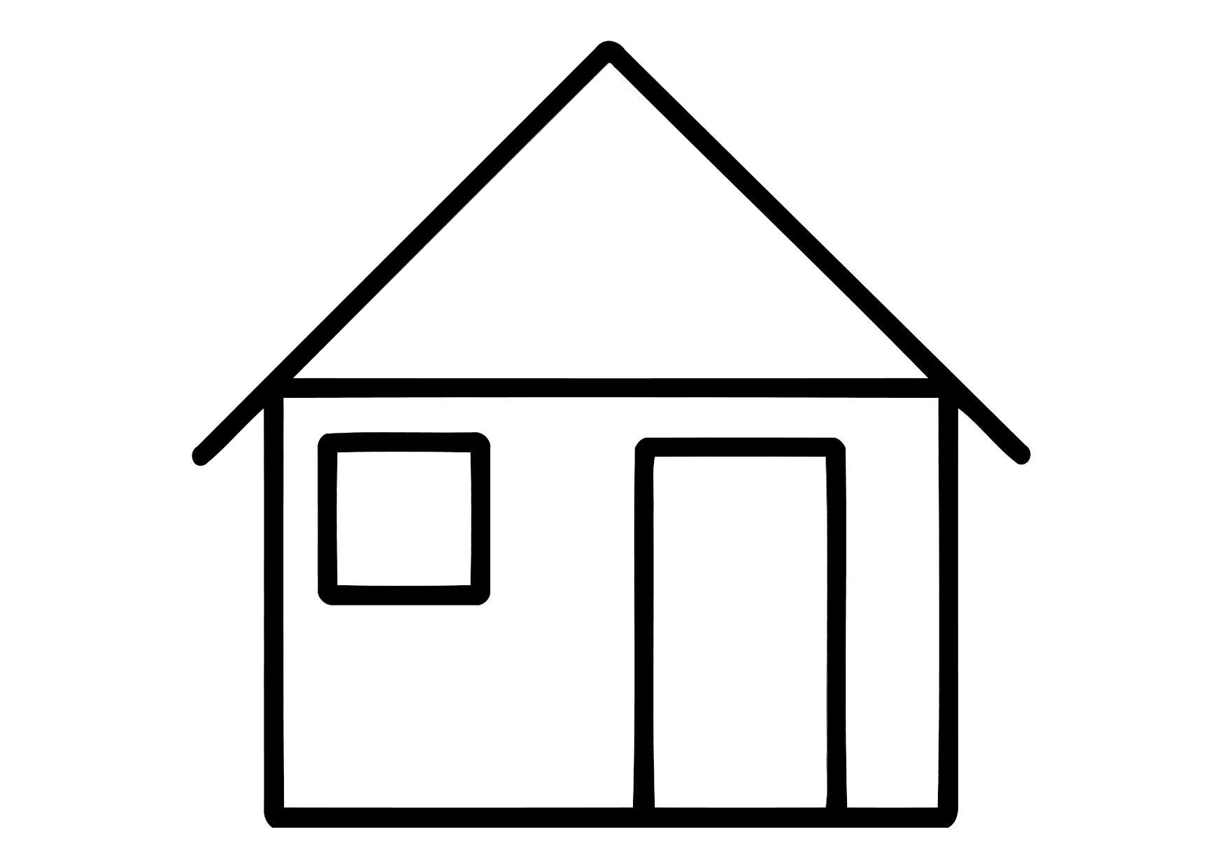Dibujo para colorear casa img 11324 - Imagenes de casas para dibujar ...