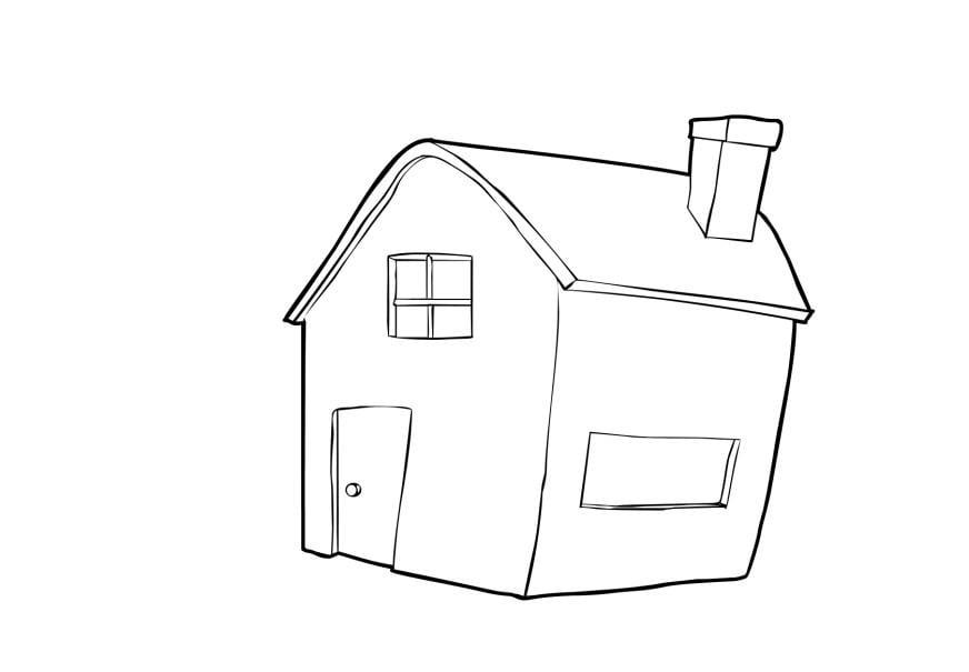 Dibujo para colorear casa img 13739 - Dibujos para pintar casas ...