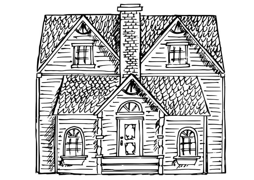 Dibujo para colorear casa - Img 17060