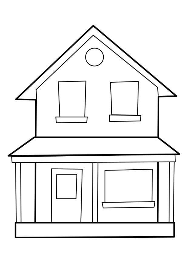 Verhuizen Kleurplaat Dibujo Para Colorear Casa Img 22849
