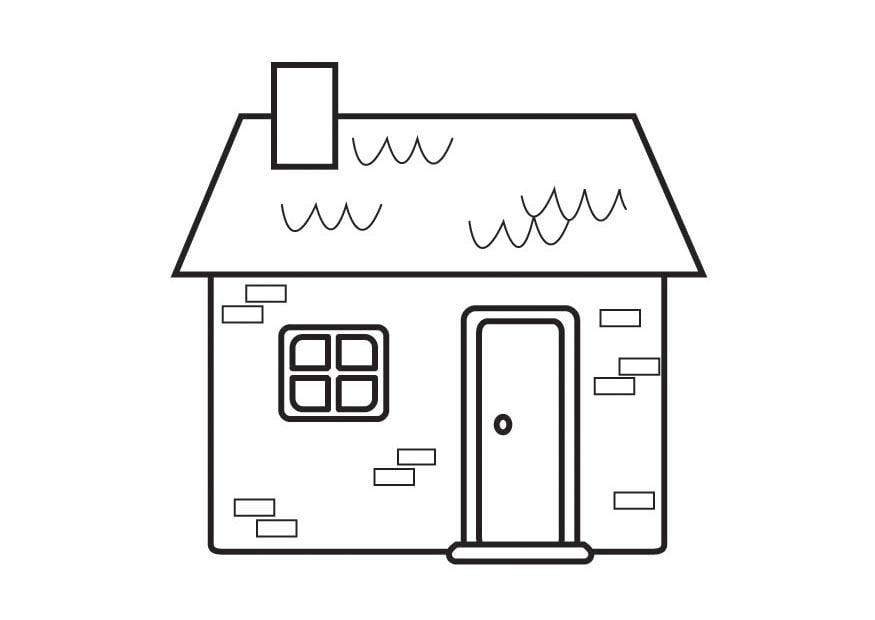 Dibujo para colorear casa img 23127 for Pintar en casa