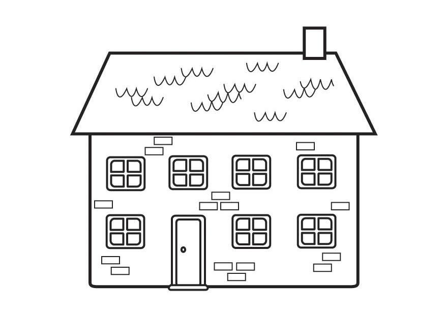 Dibujo para colorear casa img 23129 - Casa para colorear ...