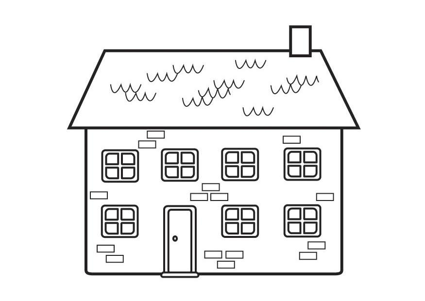 dibujo para colorear casa img 23129
