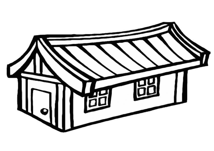 Desenho De Casas Simples Para Colorir: Dibujo Para Colorear Casa