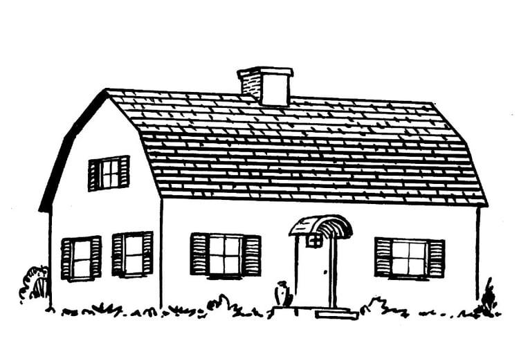 Dibujo para colorear Casa - Img 15947