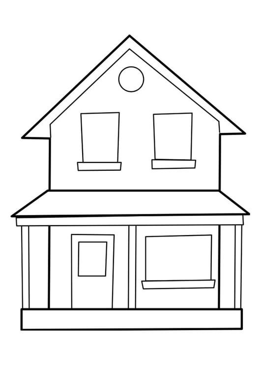 Dibujo para colorear casa img 22849 for Fachadas de casas modernas para colorear