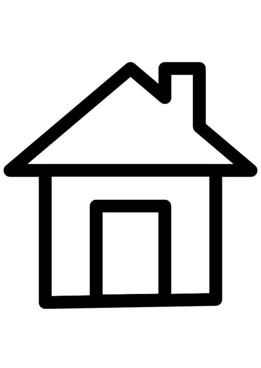 Dibujo para colorear casa img 28263 - Imagenes de casas para dibujar ...