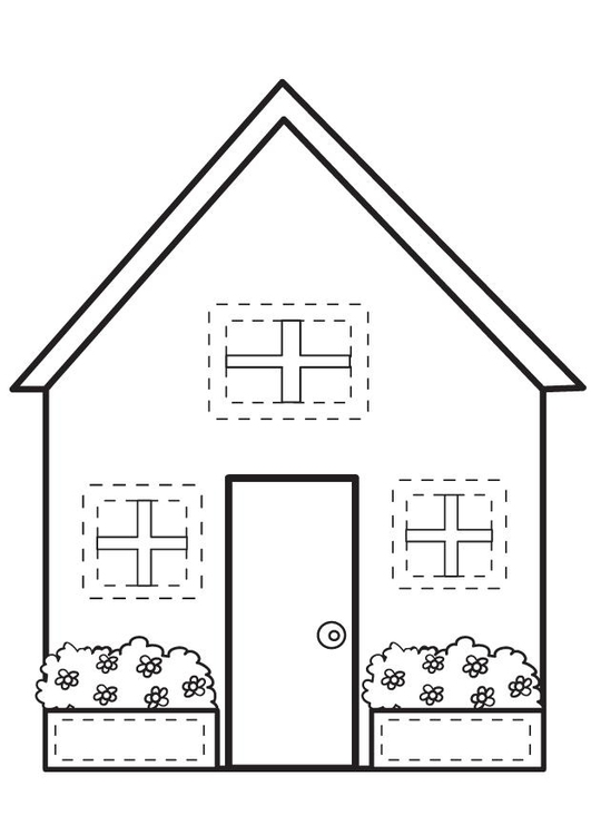Dibujo para colorear casa img 7095 - Imagenes de casas para dibujar ...