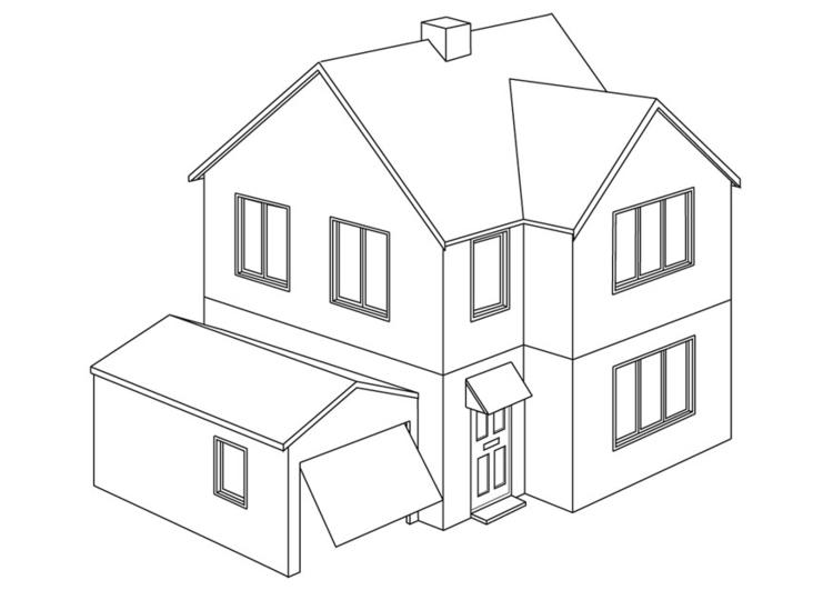 Dibujo para colorear Casa  Img 9454