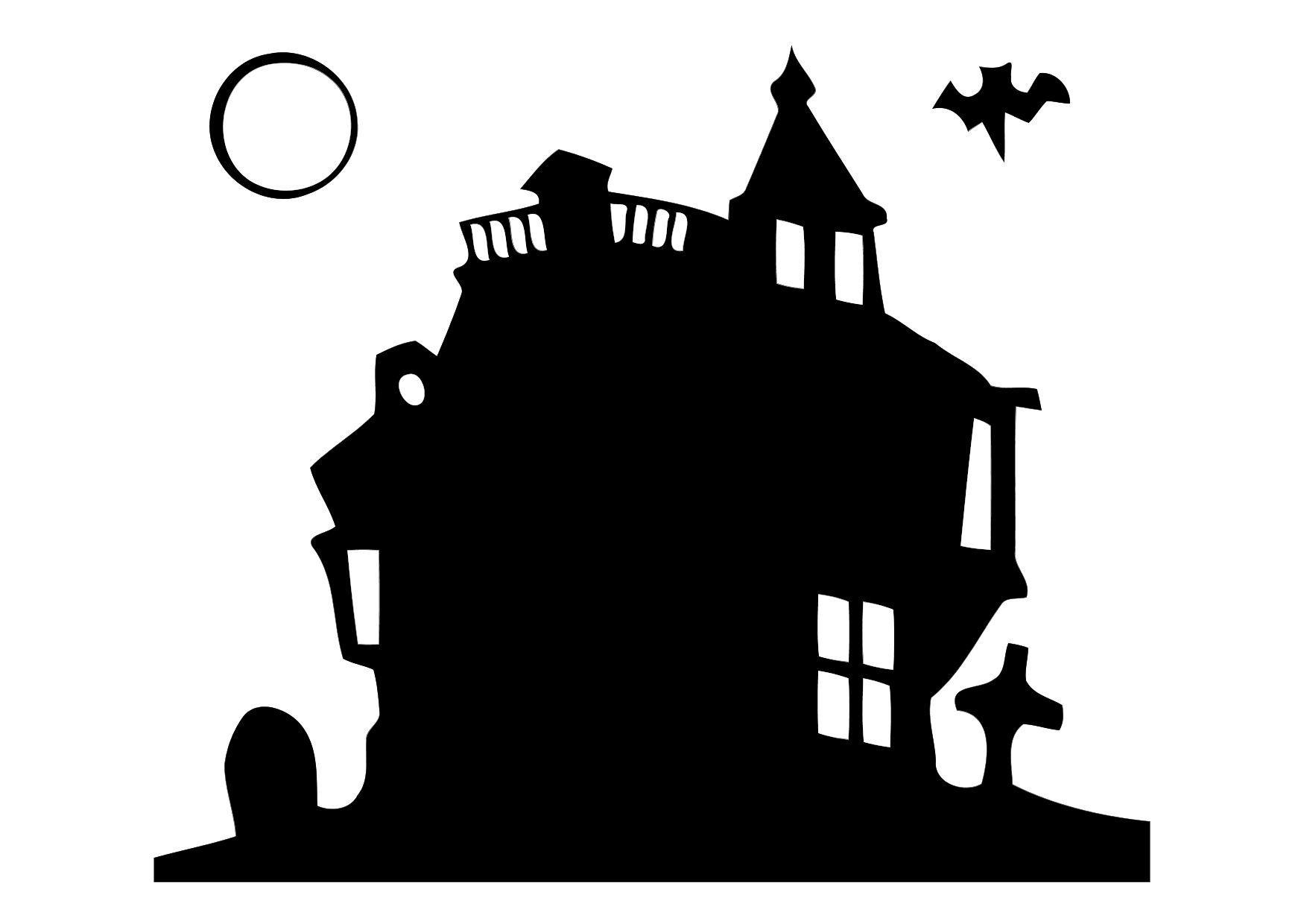 Dibujo para colorear Casa embrujada - Img 11356