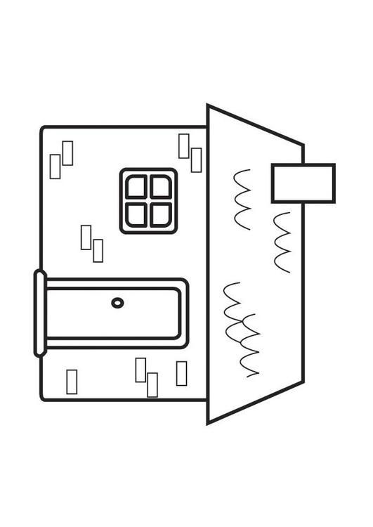 Dibujo para colorear casa - Img 23127