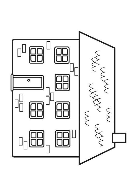 Dibujo para colorear casa - Img 23129