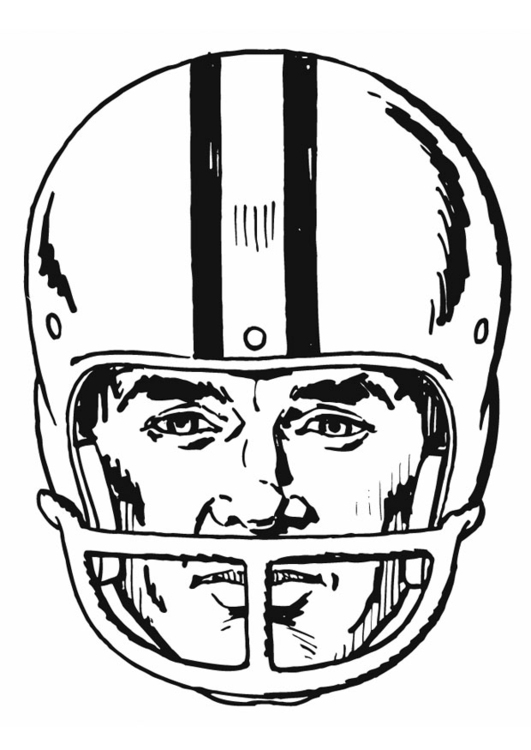 Dibujo para colorear Casco - American Football