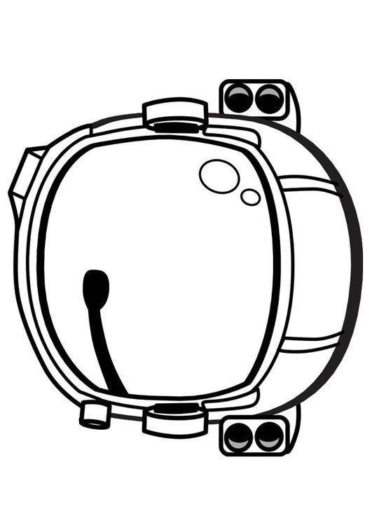 Dibujo para colorear casco de astronauta - Img 17346