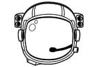 Dibujo para colorear casco de astronauta