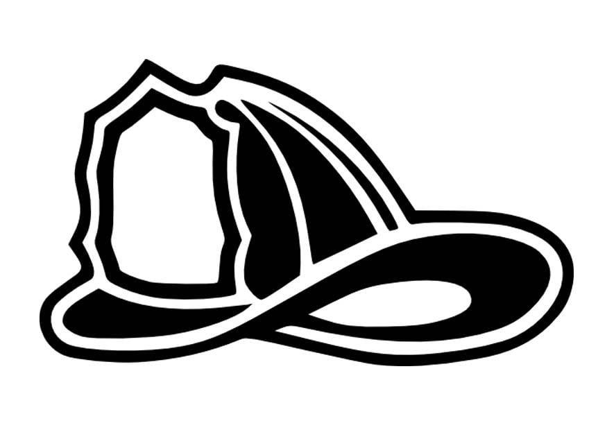 Dibujo para colorear Casco de bombero  Img 16656