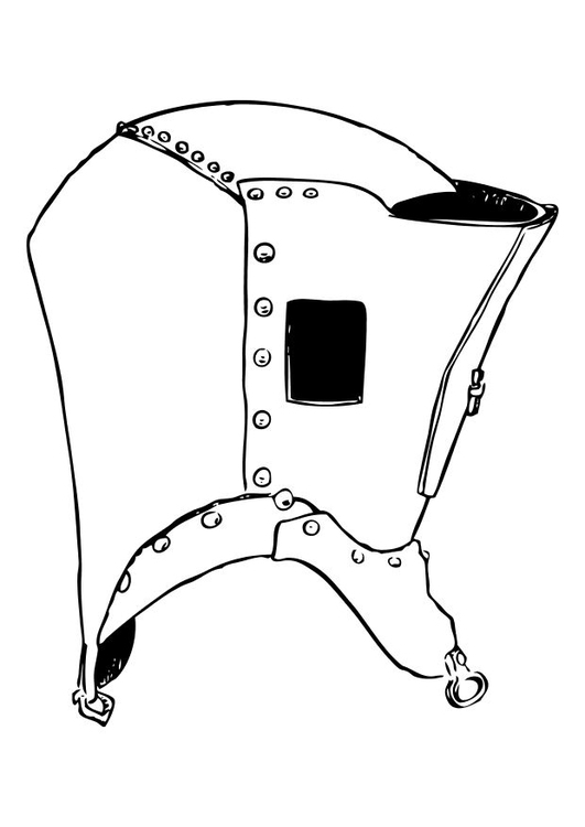 Dibujo para colorear Casco - Img 10631