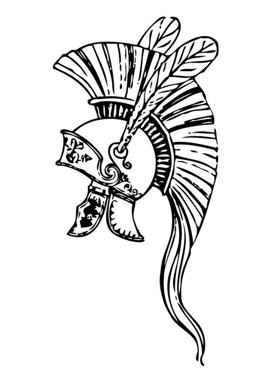 Dibujo Para Colorear Casco Griego Img 17376
