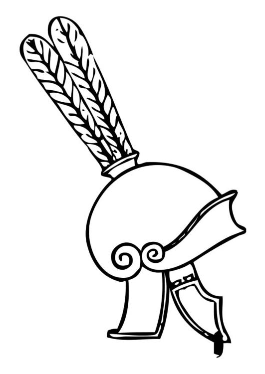 Dibujo para colorear casco griego - Img 17402