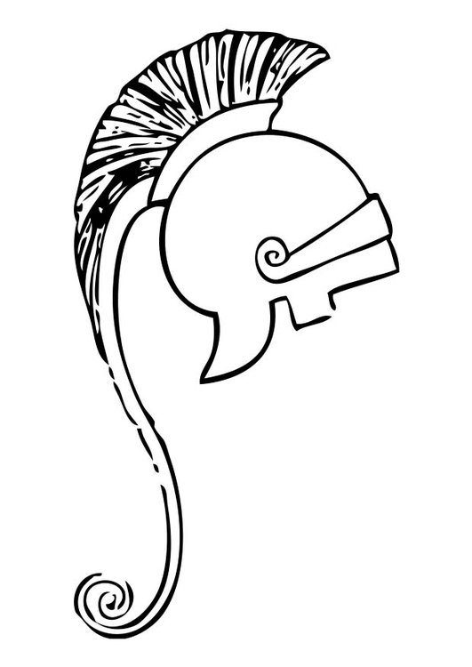 Dibujo para colorear casco griego - Img 17410