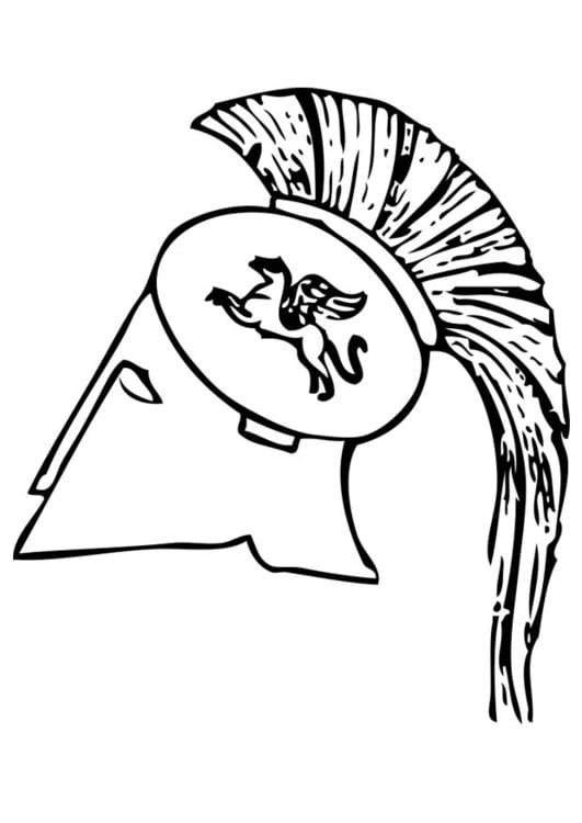 Dibujo para colorear casco griego - Img 17423