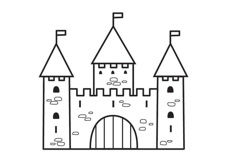 Dibujo para colorear castillo  2   Img 23125