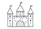 Dibujo para colorear castillo - 2