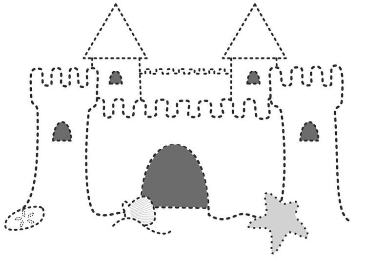 Dibujo para colorear Castillo de arena - Img 10092