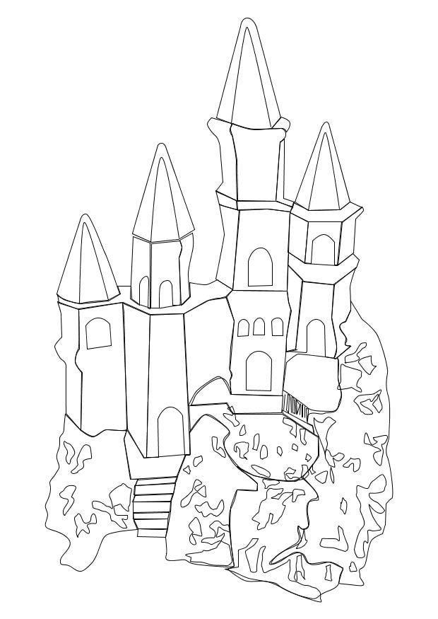 Dibujo para colorear Castillo  Img 10239