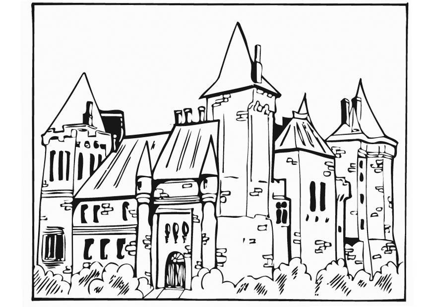 Dibujo para colorear Castillo - Img 12757