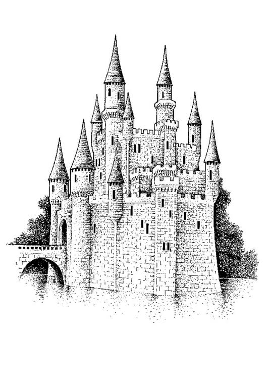 Dibujo para colorear Castillo - Img 10657