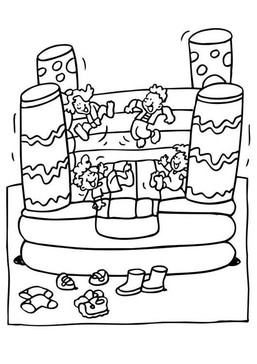 Dibujo para colorear Castillo para saltar - Img 6549