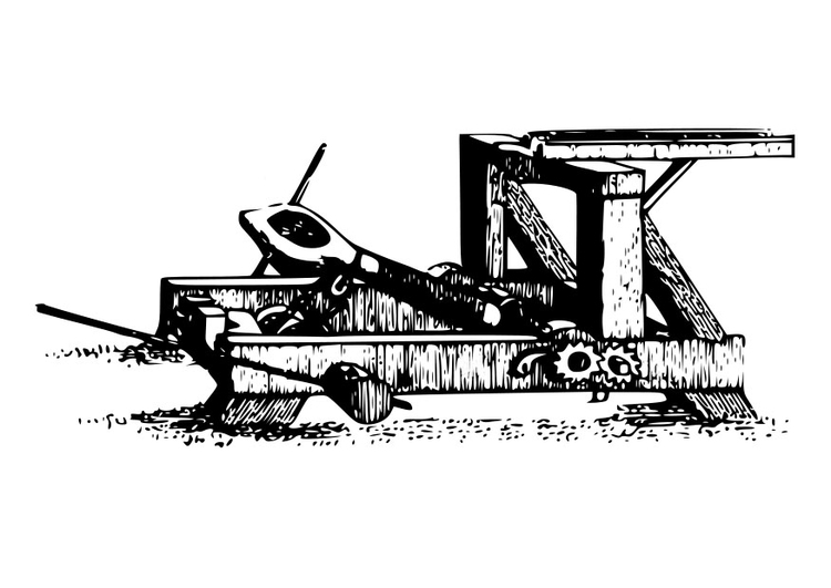 Dibujo para colorear catapulta - Img 19072