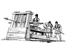 Dibujo para colorear catapulta