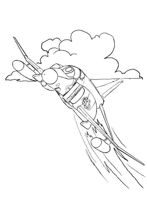 Dibujo Para Colorear Caza De Combate Img 8055 Images