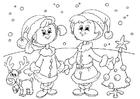 Dibujo para colorear celebrar la Navidad