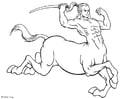 Dibujo para colorear Centauro