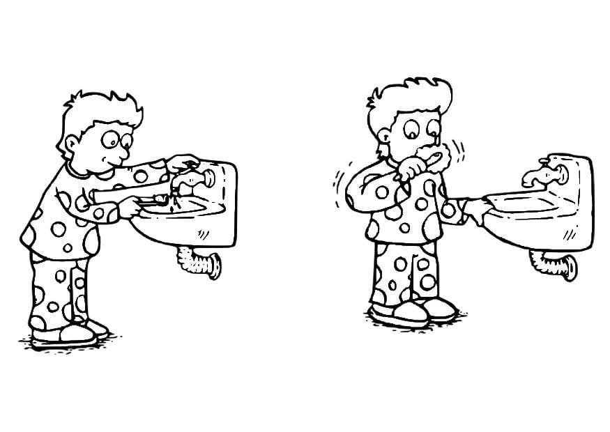 Dibujo Dientes Para Colorear E Imprimir: Dibujo Para Colorear Cepillarse Los Dientes