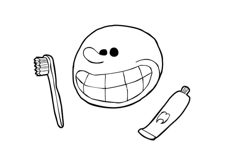 Dibujo Dientes Para Colorear E Imprimir: Pin Imagenes-lavarse-los-dientes-para-imprimir-y-colorear