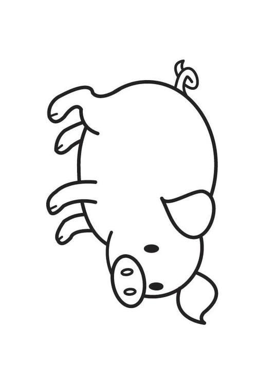 Dibujo para colorear cerdo - Img 17789