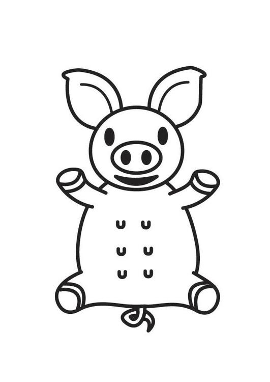 Dibujo para colorear cerdos - Img 17786