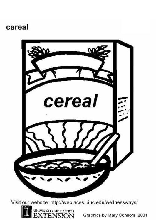 Dibujo Para Colorear Cereales Img 5793