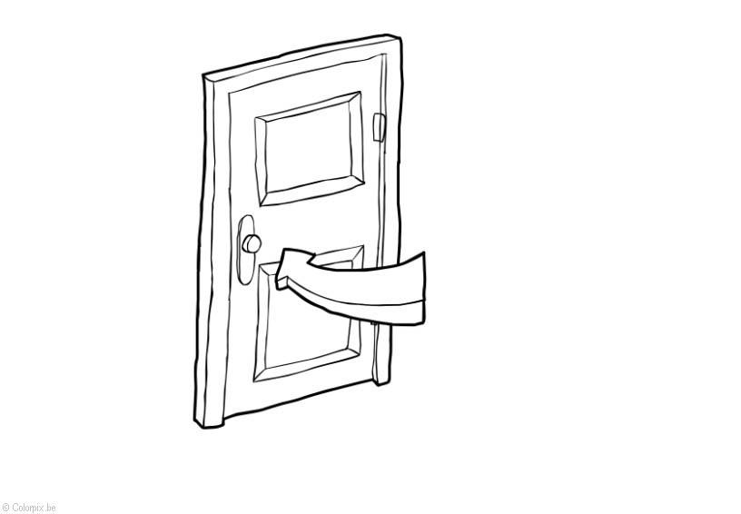 Dibujo Para Colorear Cerrar La Puerta Ahorro De Energía