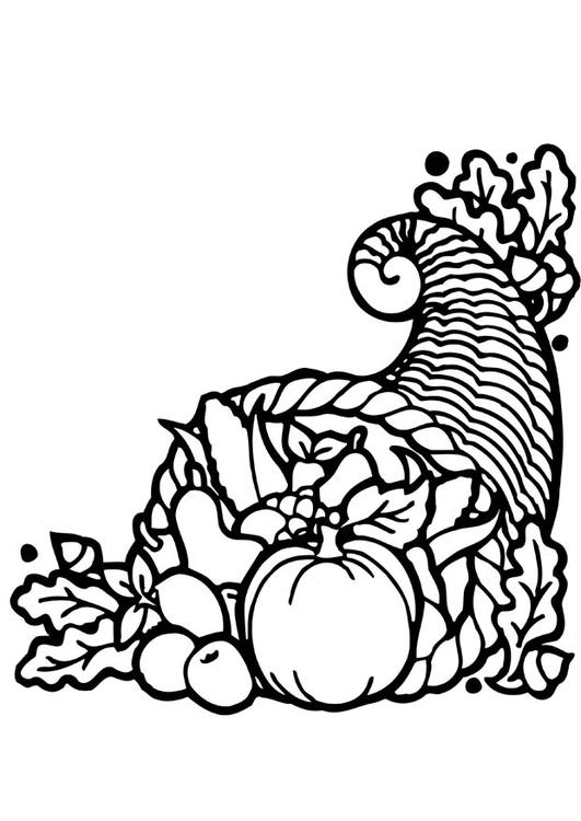 Dibujo para colorear Cesta de acción de gracias - Img 12825
