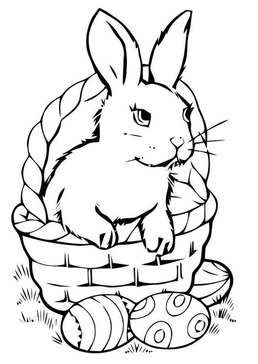 Dibujo para colorear cesta de pascua - Img 21954