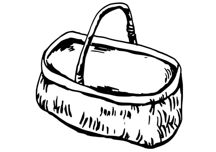Dibujo para colorear cesta - Img 19094