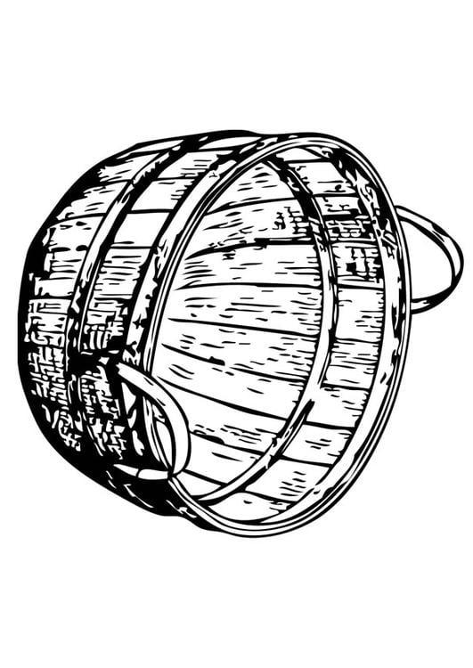 Dibujo para colorear cesta - Img 17344